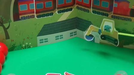 儿童玩具:挖掘机应该在他应该在的地方