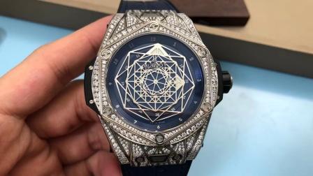 宇舶刺青后镶钻改装腕表,绝不低调!