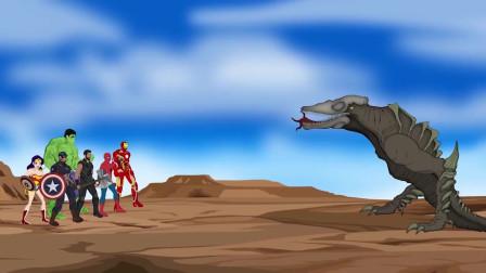 超级英雄团队联手对抗怪兽 动漫特效