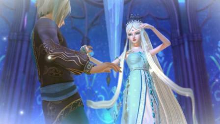精灵梦叶罗丽:冰公主施展魔法,舒言被冻住了,再也不能长大