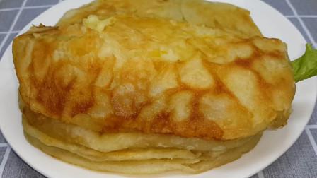 以后鸡蛋饼就这样做,锅里烙一烙,比买的好吃几十倍,真的越嚼越香