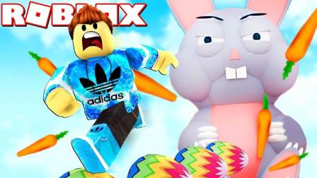 ROBLOX逃离复活节兔子:寻找彩蛋被巨大兔子一口吞了!面面解说