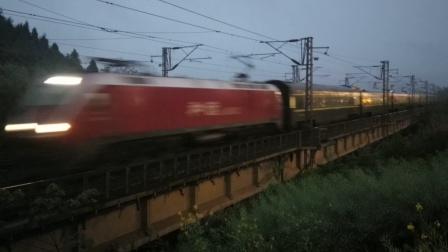 HXD1D0452武局南段Z124成都-广州通过营山一环路19:22