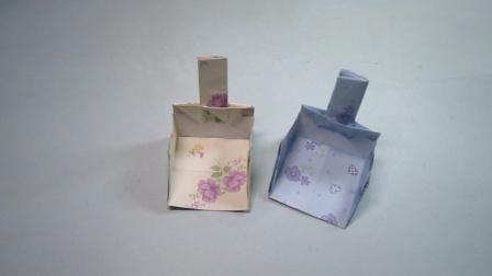 手工制作,撮箕的折法,折纸教程