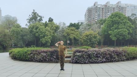 福州周周广场舞【今夜北方飘着雪花】正面编舞花与影