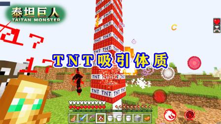我的世界泰坦巨人71:被TNT塔砸脸!高100层,引爆就像放鞭炮!