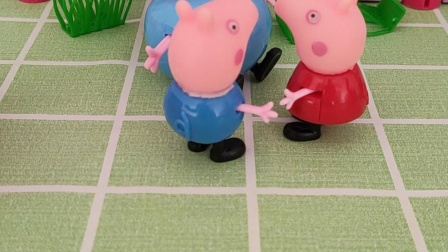 童年趣事:佩奇乔治要去水潭里洗澡