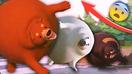 成长狗熊 大鱼吃小鱼版熊球大作战,熊大吃成热气球