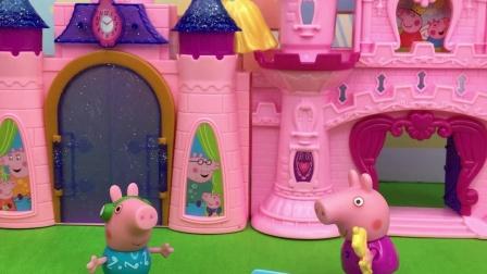 白雪公主被困在城堡上,佩奇有办法了