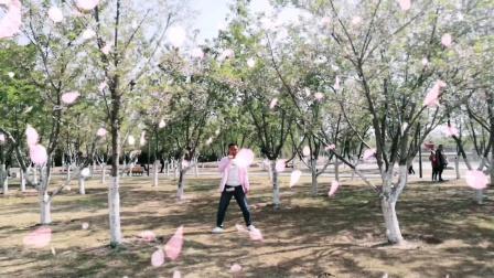 来樱花林跳一段《浪漫樱花》舞蹈。