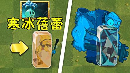植物大战僵尸2:寒冰蓓蕾的正确用法,僵尸牌冰块制造机!