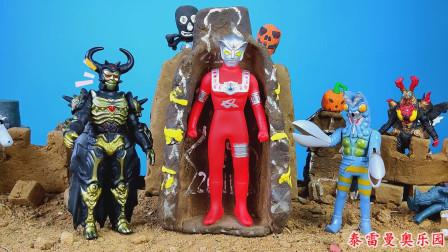 阿斯特拉中了怪兽圈套,宙达用宇宙黑暗力量打败了阿斯特拉奥特曼