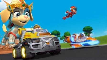 汪汪队玩具故事:好期待!狗狗们的汽车比赛谁会获胜呢?