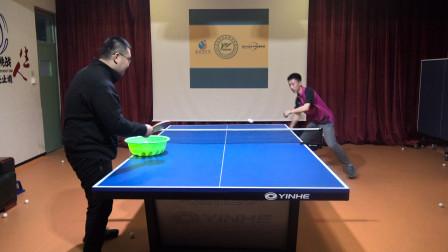打乒乓球要盯球,如何通过训练来练习盯落点?