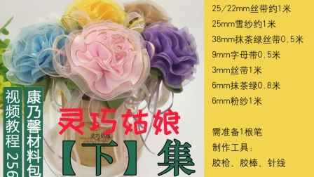 编号256康乃馨笔花教程【下集】灵巧姑娘