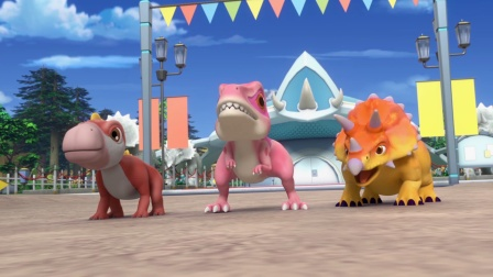 第二关的考核居然要对战罗拉和她的小恐龙..