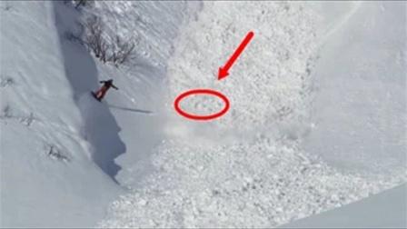 """男子滑雪发生雪崩,此时""""它""""的出现让人意外"""