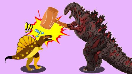 恐龙森林去探险,遇见凶猛的哥斯拉