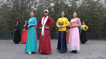 紫竹院杜老师舞蹈队模特秀《真的好想你》歌好听,步伐简单优美