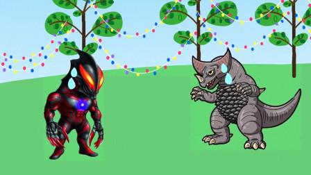 贝利亚和怪兽私自下河游泳,奥特曼很生气,小朋友们觉得呢?