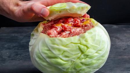"""新来大厨将包菜挖空,被老板说""""败家"""",端上桌后让他放不下筷子"""
