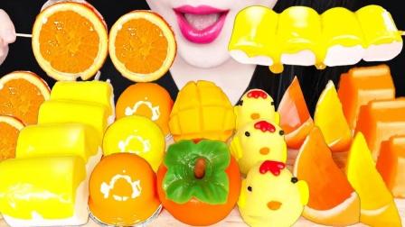一桌橙黄色创意甜点,各种口味爽翻味蕾,创意造型更是吸睛无数
