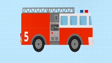 儿童积木汽车游戏之组装一辆消防车