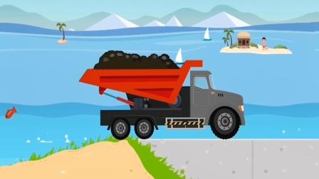 积木汽车儿童游戏,模拟组装一辆土方车