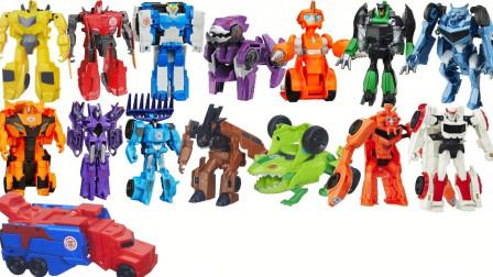 迷你汽车变形机器人玩具