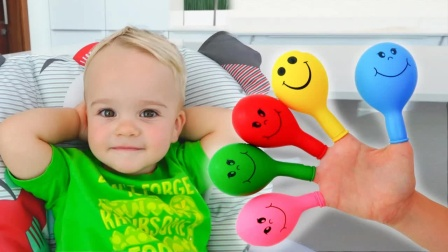 育儿益智早教,和宝宝一起玩汽球学习英语
