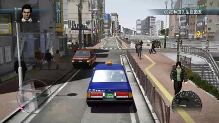 安全第一!《如龙5 HD》桐生一马的计程车,仿佛看到了刚拿驾照上道路的你!