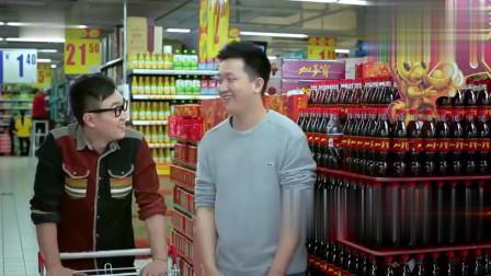 小伙超市偷喝饮料,大鹏突然来灵感,跑到超市里洗澡