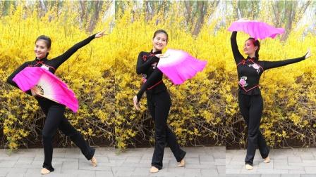 糖豆玥玥舞蹈《映山红》原创扇子舞,真的好美