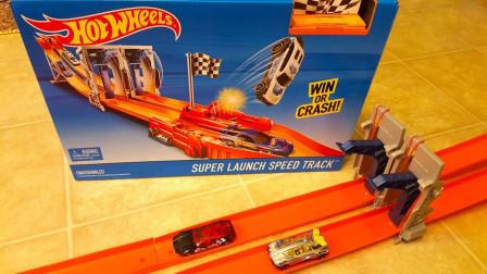 彩色汽车助推器赛道玩具拼搭