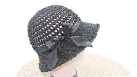 合股线镂空渔夫帽编织,爱美美眉们的必备一顶夏凉帽