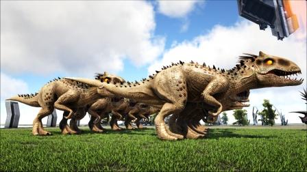 暴虐龙VS侏罗纪三角龙BOSS,谁厉害