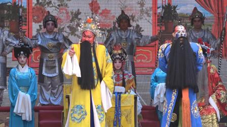 剧团演出秦腔《斩黄袍》,演员演唱音色饱满高亢有力,好听极了