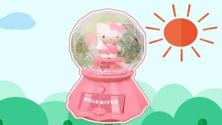 HelloKitty凯蒂猫:音乐灯光雪花球玩具分享