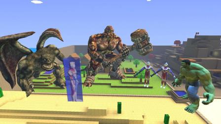 GMOD游戏迪迦和绿巨人能救出戴拿奥特曼叔叔吗?