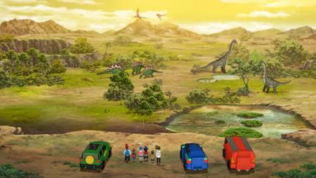 恐龙传奇_动画解说_45_坐时间机器回到恐龙时代