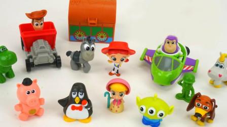 玩具总动员伍迪巴斯光年小玩偶展示