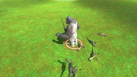 动物战争:大猩猩大战霸王龙,金刚大战