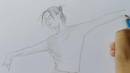画一张漂亮的舞蹈老师