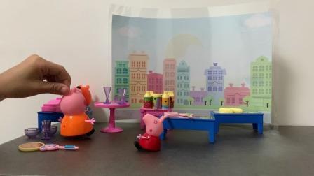 小猪佩奇玩具:猪妈妈带佩奇逛超市