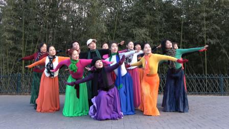 紫竹院广场舞《鸿雁》杜老师领舞,动作优美大方,歌好听