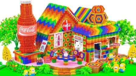 巴克球玩具拼出超漂亮的别墅