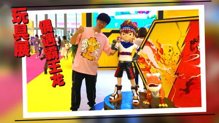 好多玩具啊!玩具展乐玩哥哥偶遇爆龙战车霸王龙