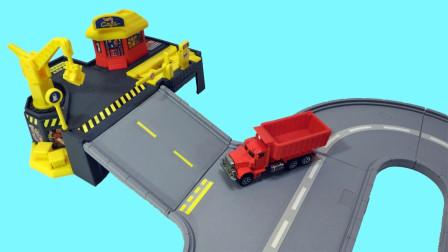 玩具拆盒拼装环形汽车公路玩具
