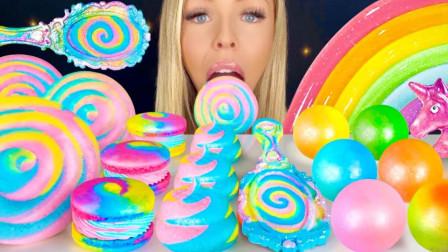 流行的甜点,加上炫彩颜色,有没有被惊艳