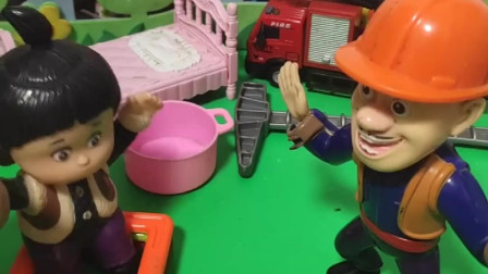 嘟嘟生气,叔叔说以后不砍树了。嘟嘟要再给叔叔一次机会吗?